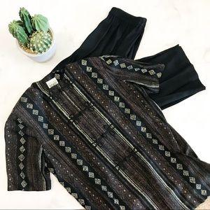 Two Piece Southwest Print Pant Suit